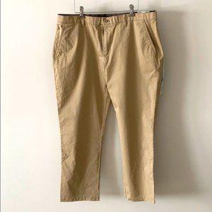 English Laundry Tan Flat Front Straight Leg Khakis